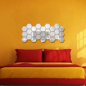 B2B Nálepky na stenu / zrkadlo - viacuholníky