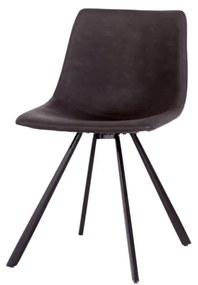 Dizajnová stolička Claudia tmavosivá
