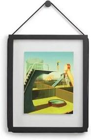Fotorámik CORDA na stenu 32x39cm čierny, Umbra, drevo, 32 x 39 x 2 cm, čierna