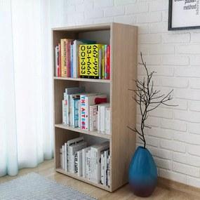 Regál na knihy z drevotriesky, 60x31x116,5 cm, dubová farba