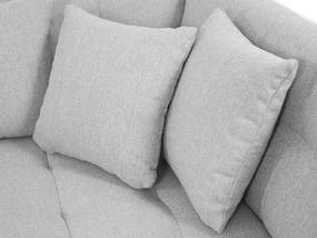 Luxusní sedačka ve tvaru U Bravo, bílá/modrá  Roh: Orientace rohu Levý roh