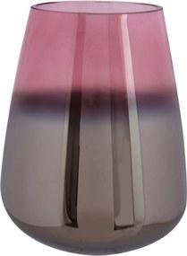 PRESENT TIME Veľká ružová sklenená váza Oiled