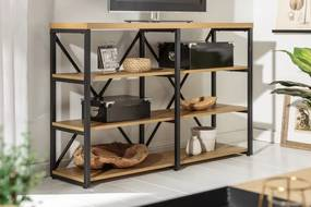 Dizajnový regál Kiana 110 cm vzor dub