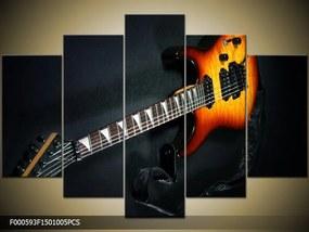 Obraz na plátne Basová gitara, Obdĺžnik 120x80cm 87,92 €
