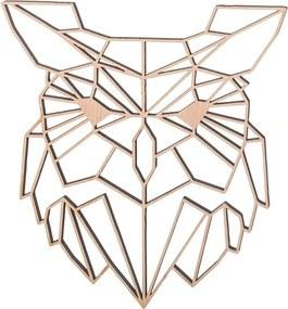 ČistéDrevo Drevený geometrický obraz - sova