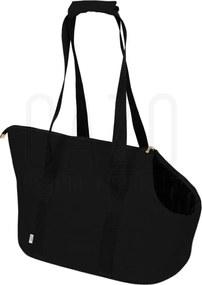 Čierna prepravná kabelka pre psa 30×40×24 cm