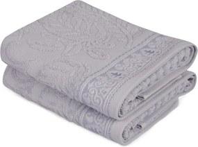 Sada 2 modrých bavlnených uterákov na ruky Catherine, 50 × 90 cm