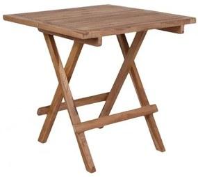 Odkládací stolek zahradní COFFEE BILBAO,50 cm,teak dřevo House Nordic 7501001