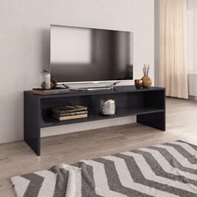 vidaXL TV skrinka sivá 120x40x40 cm drevotrieska lesklá