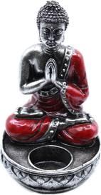 Buddha Svietnik - Červený - Stredný
