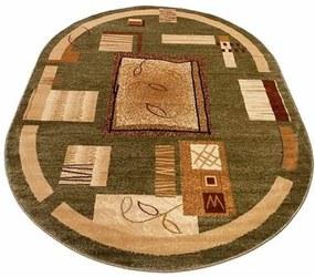 Kusový koberec eko Forme zelený ovál, Velikosti 160x220cm