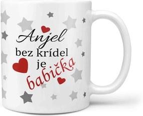 Hrnček Anjel bez krídel je babička