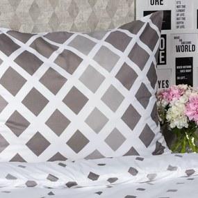 4Home Obliečky Geometric sivá micro, 140 x 200 cm, 70 x 90 cm