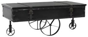 vidaXL Konferenčný stolík, MDF a jedľové drevo 110x55x43 cm