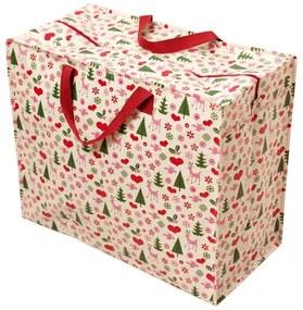 Veľká retro nákupná taška Rex London Christmas