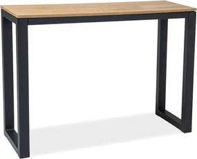 Expedo Konzolový stolík HUMBERTO K, 85x34x120, dub/čierna