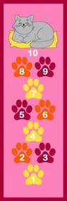 Vopi Detský koberec Skákací panák s mačičkou, 67x200 cm - ružový