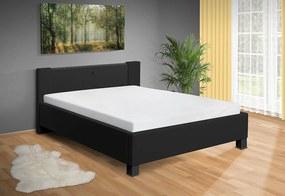 Nabytekmorava Moderná posteľ Luna 120x200 cm matrac: bez matrace, farba čalúnenie: eko koža čierna, úložný priestor: bez úložného priestoru