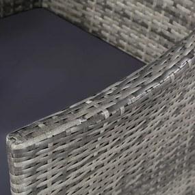 vidaXL Záhradná 21-dielna jedálenská súprava z polyratanu, šedá