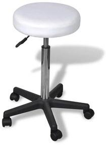 vidaXL Kancelárska stolička, biela