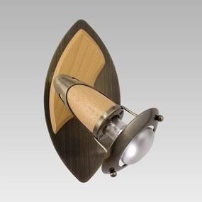 Nástenné svietidlo PREZENT ZEUS bronzová / buk 322