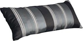 Vankúš Virginia 95x40 cm, čierno-šedé prúžky