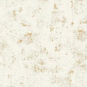 Vliesové tapety na stenu Trendwall 2307-75, rozmer 10,05 m x 0,53 m, omietkovina zlato-biela, A.S. CRÉATION