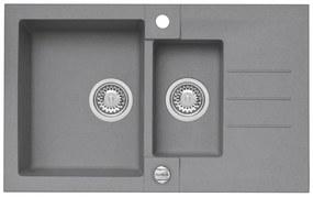 ALVEUS ROCK 70 granitový kuchynský drez 780x480 mm, betón