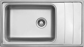 Kuchynský nerezový drez Sinks WAVE 915 V leštený