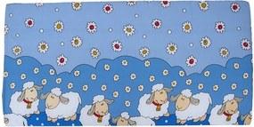 Cosing Detský molitanový matrac Ovečky, 120x60 - modrá