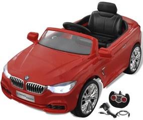 vidaXL Červené autíčko BMW na batériu s diaľkovým ovládačom