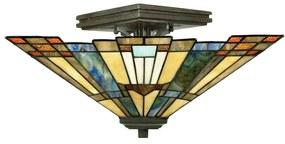 Stropné svietidlo Inglenook s farebným sklom