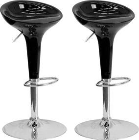 2x Barová stolička Hawaj CL-1213 | čierna
