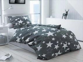 Obliečky mikroplyš Star sivé