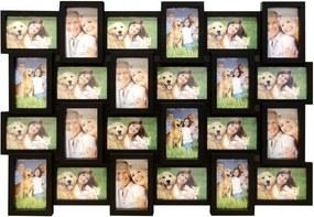 DekorStyle Fotorámeček na stěnu 24 fotografií - 10 x 15 cm černá