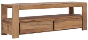 vidaXL TV skrinka 120x30x40 cm masívne teakové drevo