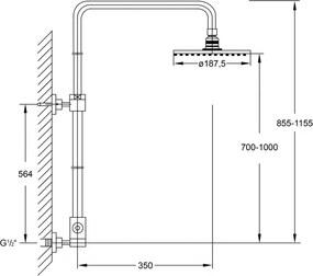 STEINBERG - Sprchová súprava bez batérie, chróm (100 2780)