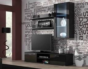 CAMA MEBLE Obývacia stena SOHO 5 Farba: čierna