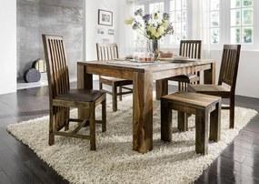 Bighome - PLAIN SHEESHAM Jedálenský stôl 200x100 cm - drevené nohy, palisander