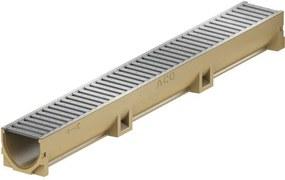 ACO EuroSelf žľab 1 m, H=10 cm, pozinkovaný mostíkový rošt 38700