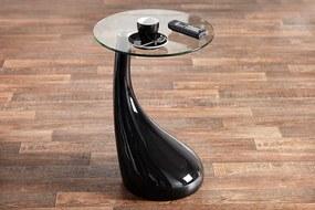 Odkladací stolík FONTAINE  čierny