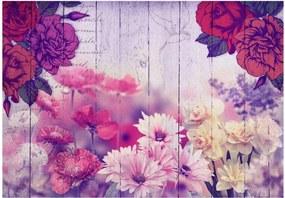 Murando DeLuxe Květinové spojení 150x105 cm
