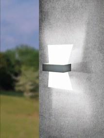 EGLO 98717 ALBENZA LED vonkajšie nástenné svietidlo 500lm biela IP44 3000K