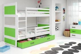 Poschodová posteľ RICO 2 - 190x80 - Biely - Zelený