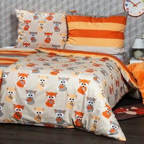 4Home Bavlnené obliečky Little Fox, 140 x 200 cm, 70 x 90 cm