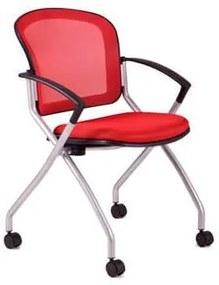Konferenčná stolička Metis, červená