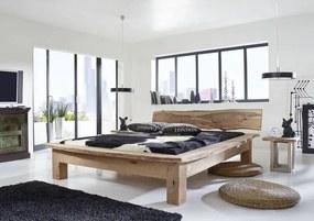 Masiv24 - METALL posteľ 180x200cm akáciový nábytok