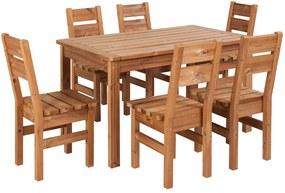 Záhradný drevený set PROWOOD z ThermoWood - SET M2 - Set + dodanie náteru v odtieni HONEY + PCD 91