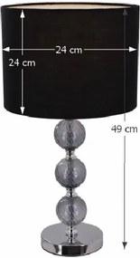 Stolná lampa, čierna, JADE Typ 7 6467-40