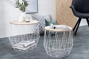 Konferenčný stolík Storage (set 2ks) - biely